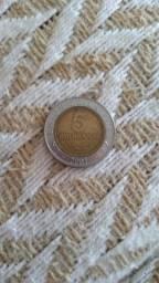 moeda para colecionadores 5 bolivianos Bimetalica 2001