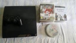 Playstation 3 (usado) + 15 Jogos originais + 1 manete original