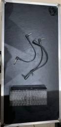 Case para pedais 70x34,5 + pedal de volume Onner e 3 cabos para pedais.