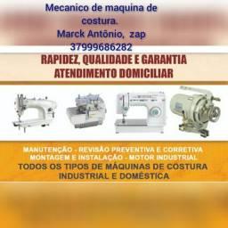 Serviços de mecânica de máquinas de costurar