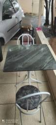 Mesa mármore 2 cadeiras - ENTREGO