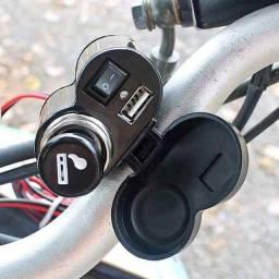 Tomada usb moto com acendedor - Plenus Informática