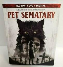 Blu ray Pet Sematary 2019 com luva  2 Discos  -  lacrado