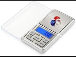 Kit com 3 Balanças digitais de bolso e alta precisão 0,1g a 500g