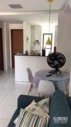 Título do anúncio: Apartamento todo mobiliado com 3 dormitórios à venda, 74 m² por R$ 260.000 - Maria Farinha