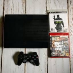 Playstation 3 Super Slim - 250GB - 11 Jogos