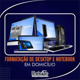 Formatação de computadores e notebooks em domicílio