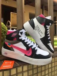 Título do anúncio: Bota Nike Air Jordan off White