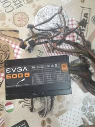 Fonte EVGA 600w 80 plus Bronze (Com defeito)