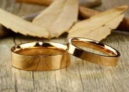 Aliança para Noivado ou Casamento em Aço-Folheado