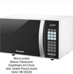 Madeira Madeira Micro-ondas 21L Panasonic Dia a Dia ST27 Branco com Espelhado 110V