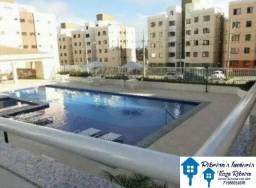 Sussuarana, Condomínio Varandas do Vale, apartamento 02 quartos, suíte, varanda e piscina
