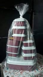 Kit com 10 vasilhas plásticas