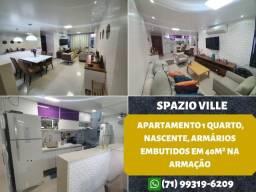 Spazio Ville, 2 quartos, suíte em 70m², 2 vagas de garagem na Pituba