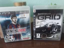 Jogos PS3 - PES 2010 e RACEDRIVER GRID