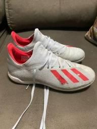 Chuteira Futsal Adidas X 19 3 IN - Branco e Vermelho - Tam 40