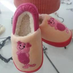 Pantufa Sapato Infantil Varios Desenhos C/pelo Super Quente!