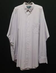 Camisa Ralph Lauren, azul claro, lisa - GG.<br><br>