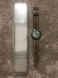 Relógio Swatch Irony Pulseira em Camurça