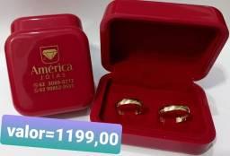 Título do anúncio: Alianças em ouro 18k com garantia eterna.