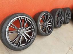 Título do anúncio: Jogo de rodas 5x114 aro 20 * Com pneus