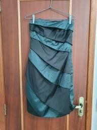 Vestido tubinho de cetim Shop 126