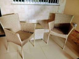 Conjunto de cadeiras para varanda