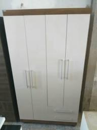 Guarda roupas 4 portas e 2 gavetas novo