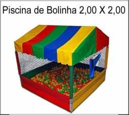 Castelinho inflável + piscina de bolinhas 2.2 locação