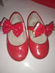 Sapato de Festa Infantil Vermelho