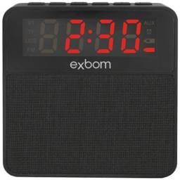 R$79,90 Radio Relógio Digital Bluetooth Usb Sd Mp3 Fm Despertador