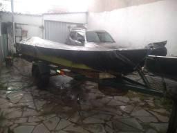 Barco Alumínio 5mts + Carretinha + Motor + Acessórios - 2020