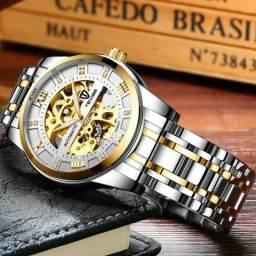 Relógio Tevise Automático Mecânico INOX T9005A Original