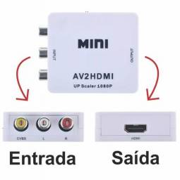 Conversor Av 3 Rca Para Hdmi Up Scaler 1080p - 429