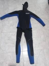 Roupa de mergulho 02 peças 5mm