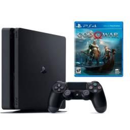 Título do anúncio: Playstation 4 Slim com garantia de 01 ano e jogos de brinde