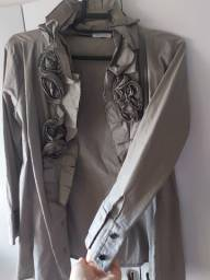 Camisa social feminina,M