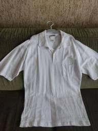 Camiseta polo branca nova Tam G