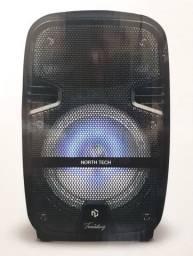 Caixa De Som Ativa Prof C/bateria 120rms 8 Pol Blue E Microf