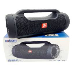 R$179,90 - Caixa Som Amplificada Portatil Bluetooth Usb Fm Sd Cs-m70bt