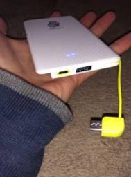 Bateria portátil 5000mAh (1 mês de garantia)