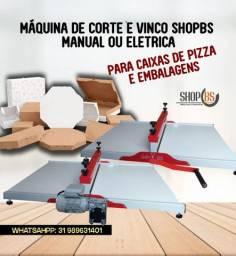 Maquina de corte e vinco Manual 70cm para embalagens e caixa de pizza