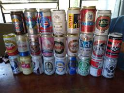 Vendo latas para coleção