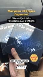 Oferta Mini game 400 jogos com controle