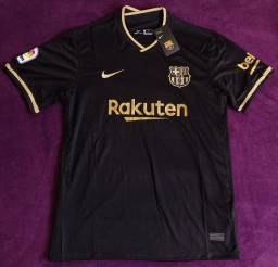 Camisa do Barcelona preta (Disponível: GG)