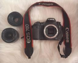 Canon 70D + lente 18-55 + 50mm 1.8