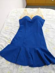 Vestido azul colcci