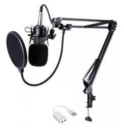 Microfone Condensador BM800 + Braço aranha