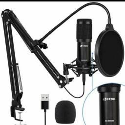 Kit Microfone Estúdio Profissional Completo