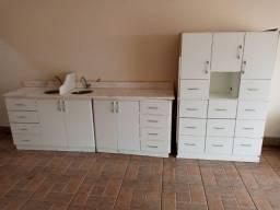 Vendo Pia + Gabinetes e Armário/Arquivo - Usado